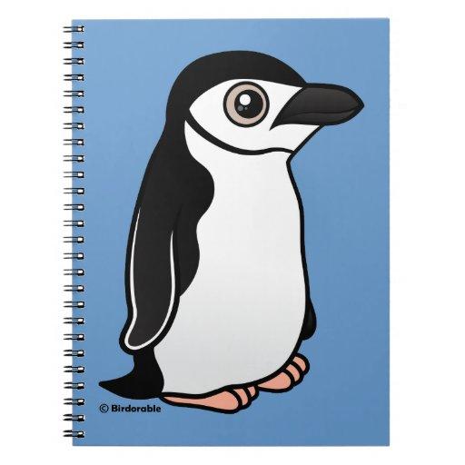 Pingüino de Chinstrap Spiral Notebook