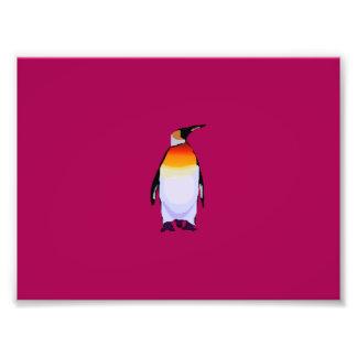 Pingüino de color rojo oscuro fotografías