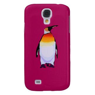 Pingüino de color rojo oscuro funda para galaxy s4