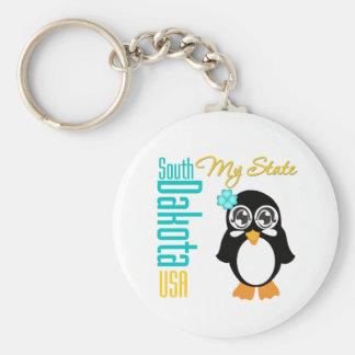 Pingüino de Dakota del Sur los E E U U Llaveros