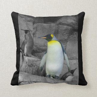 Pingüino de emperador almohadas