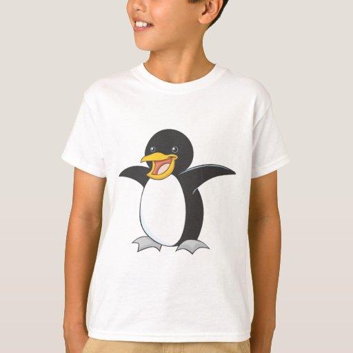 Pingüino de emperador feliz playera