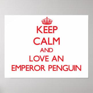 Pingüino de emperador posters