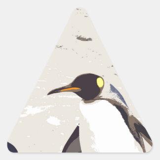 Pingüino de emperador pegatina triangular