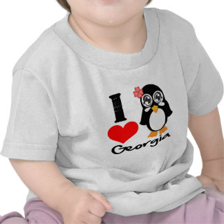 Pingüino de Georgia - amor Georgia de I Camisetas