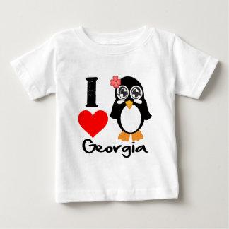 Pingüino de Georgia - amor Georgia de I Playeras
