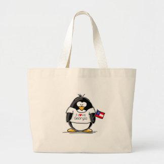 Pingüino de Georgia Bolsa De Mano