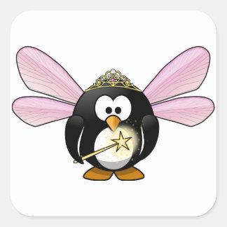 Pingüino de hadas colcomania cuadrada