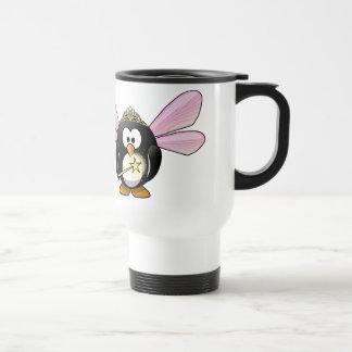 Pingüino de hadas taza de café