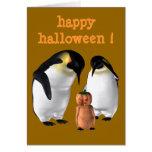 Pingüino de Halloween Felicitación