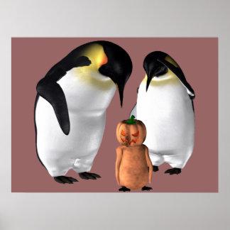 Pingüino de Halloween Poster