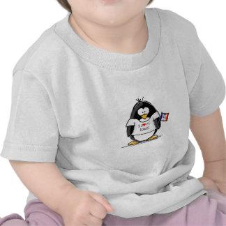 Pingüino de Iowa Camiseta