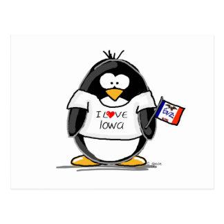 Pingüino de Iowa Postales
