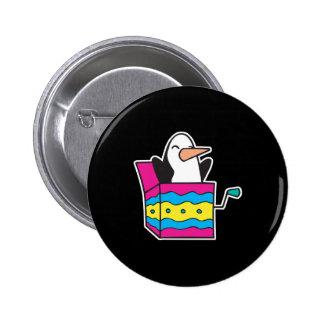 pingüino de Jack In The Box Pin Redondo 5 Cm