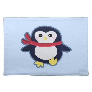 Pingüino de Kawaii Mantel Individual