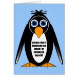 pingüino de la actitud tarjeton