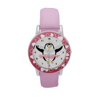Pingüino de la bailarina relojes