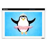 Pingüino de la bailarina skins para 43,2cm portátiles
