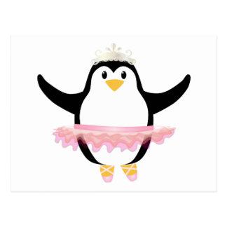 Pingüino de la bailarina postal