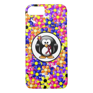Pingüino de la cinta de Borgoña Funda iPhone 7