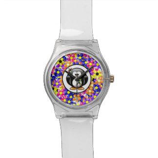 Pingüino de la cinta del rompecabezas relojes de pulsera