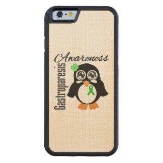 Pingüino de la conciencia de Gastroparesis Funda De iPhone 6 Bumper Arce