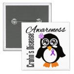 Pingüino de la conciencia de la enfermedad de Croh Pin