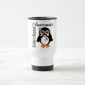 Pingüino de la conciencia de la enfermedad de Croh Tazas