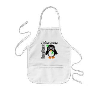 Pingüino de la conciencia de la enfermedad de riñó delantal