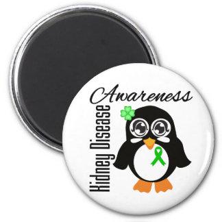 Pingüino de la conciencia de la enfermedad de riñó imanes