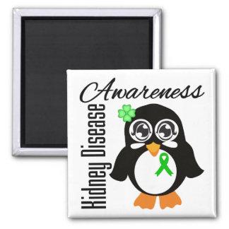 Pingüino de la conciencia de la enfermedad de riñó imán de frigorífico