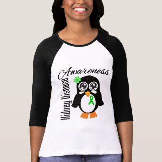 Pingüino de la conciencia de la enfermedad de riñó camiseta