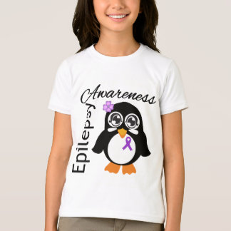 Pingüino de la conciencia de la epilepsia remeras