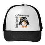 Pingüino de la conciencia de la esclerosis múltipl gorras de camionero