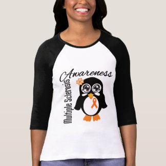 Pingüino de la conciencia de la esclerosis tee shirts