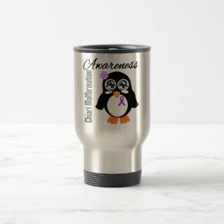 Pingüino de la conciencia de la malformación de taza de viaje