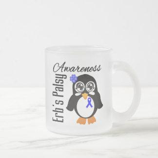 Pingüino de la conciencia de Palsey de Erb Taza Cristal Mate