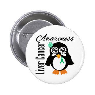 Pingüino de la conciencia del cáncer de hígado