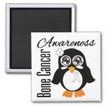 Pingüino de la conciencia del cáncer de hueso imán de frigorífico