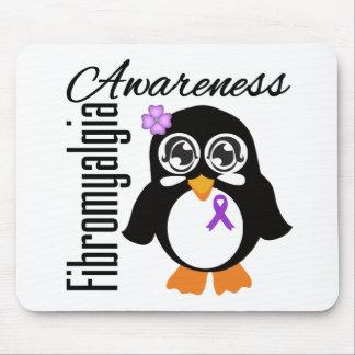 Pingüino de la conciencia del Fibromyalgia Alfombrilla De Raton