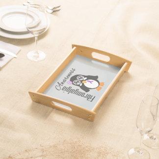 Pingüino de la conciencia del Fibromyalgia Bandeja