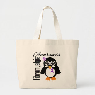Pingüino de la conciencia del Fibromyalgia Bolsas Lienzo