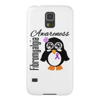 Pingüino de la conciencia del Fibromyalgia Carcasa De Galaxy S5