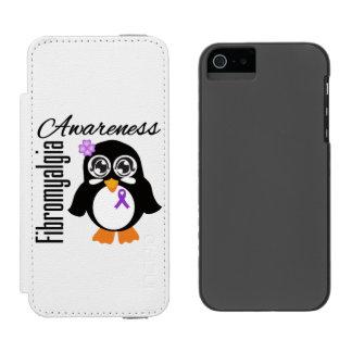 Pingüino de la conciencia del Fibromyalgia Funda Billetera Para iPhone 5 Watson