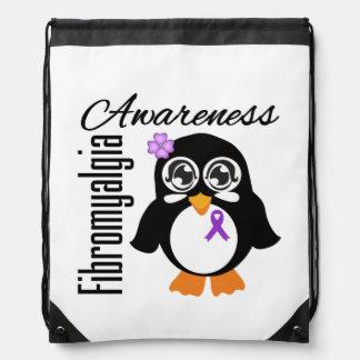 Pingüino de la conciencia del Fibromyalgia Mochila