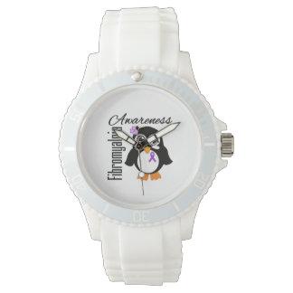 Pingüino de la conciencia del Fibromyalgia Reloj De Mano