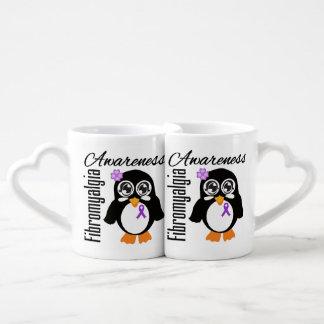 Pingüino de la conciencia del Fibromyalgia Taza Amorosa