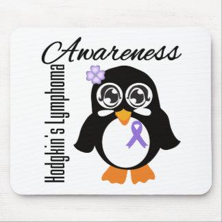 Pingüino de la conciencia del linfoma de Hodgkin Tapete De Ratones