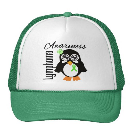 Pingüino de la conciencia del linfoma gorro