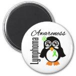 Pingüino de la conciencia del linfoma iman de frigorífico
